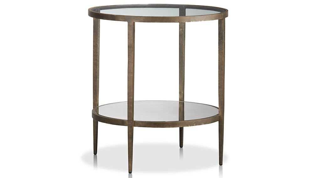 Clairemont Round Side Table Crate and Barrel
