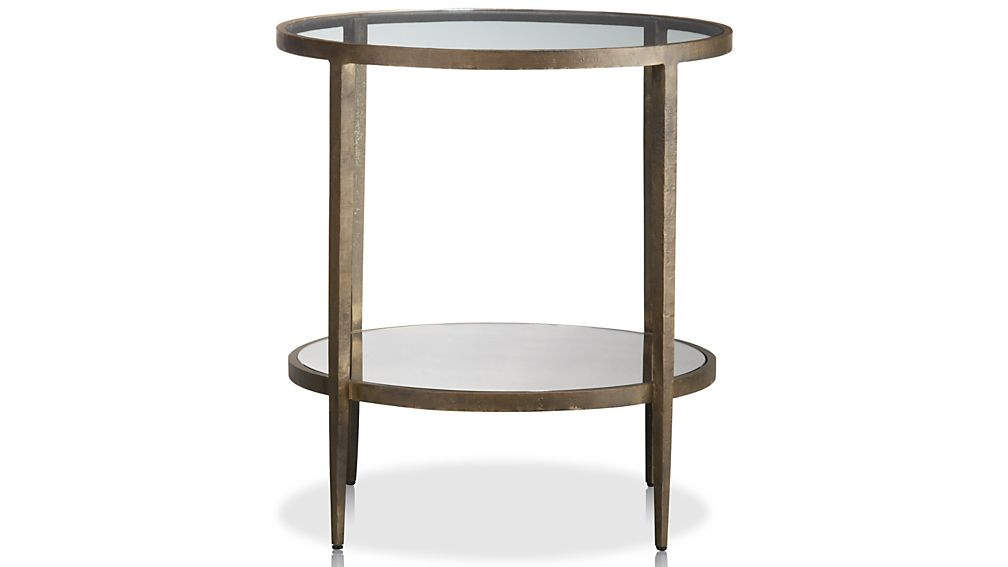 clairemont round side table reviews crate and barrel - Crate And Barrel End Tables
