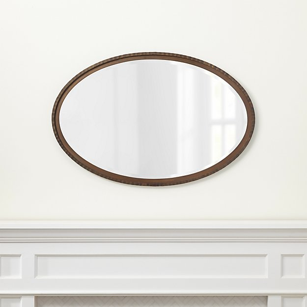 Bathroom Mirrors Crate And Barrel clairemont art deco wall mirror | crate and barrel