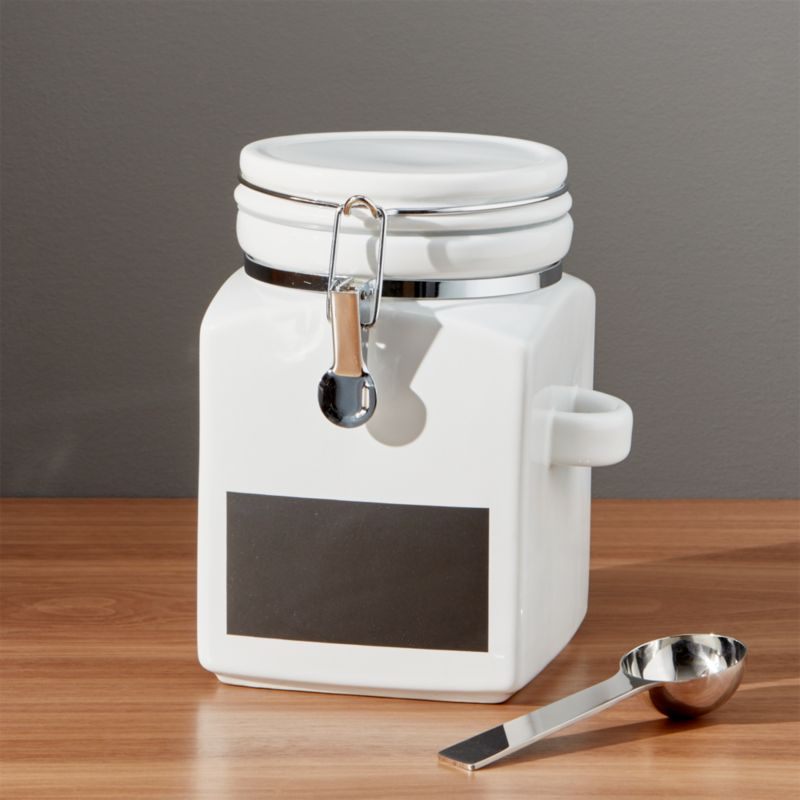 Medium Clamp Canister with Chalkboard Reviews Crate and Barrel