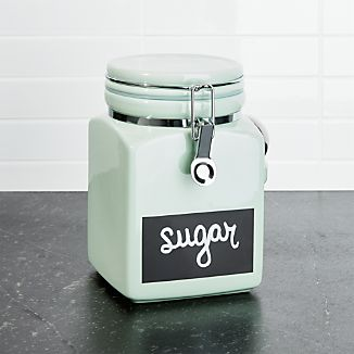 Medium Pistachio Clamp Canister with Chalkboard