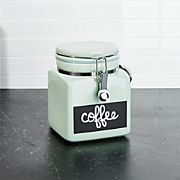 Small Pistachio Clamp Canister with Chalkboard