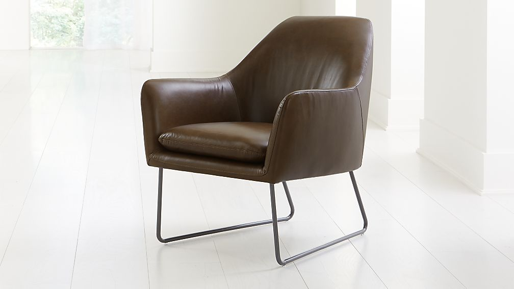Clancy Leather Chair - Image 1 of 9