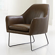 Excellent Leather Sofas Chairs Crate And Barrel Ocoug Best Dining Table And Chair Ideas Images Ocougorg