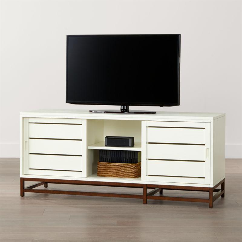white media console furniture. Clapboard White 60\ Media Console Furniture