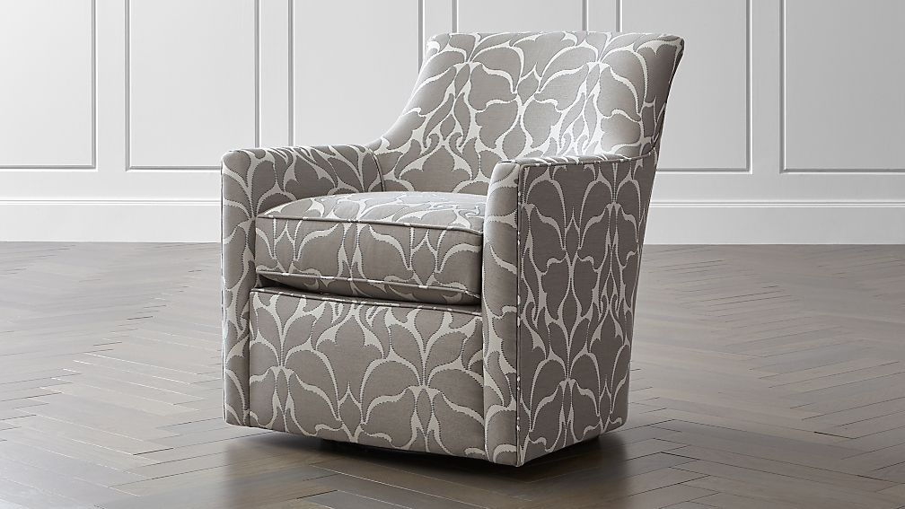 Clara Swivel Accent Chair Crate And