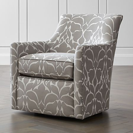 Stupendous Clara Swivel Accent Chair Crate And Barrel Caraccident5 Cool Chair Designs And Ideas Caraccident5Info