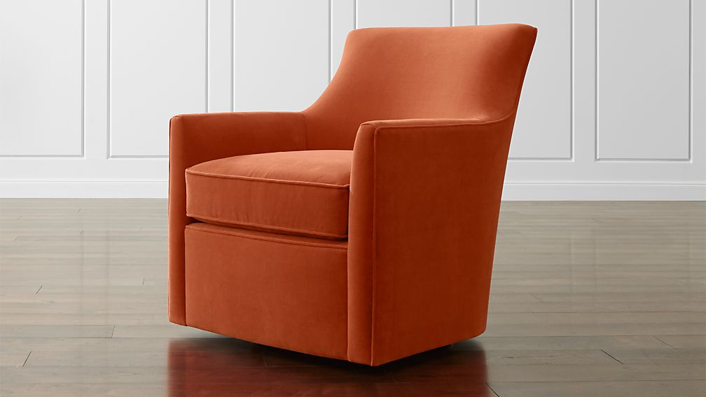 Clara Swivel Chair In Chairs Reviews Crate And Barrel
