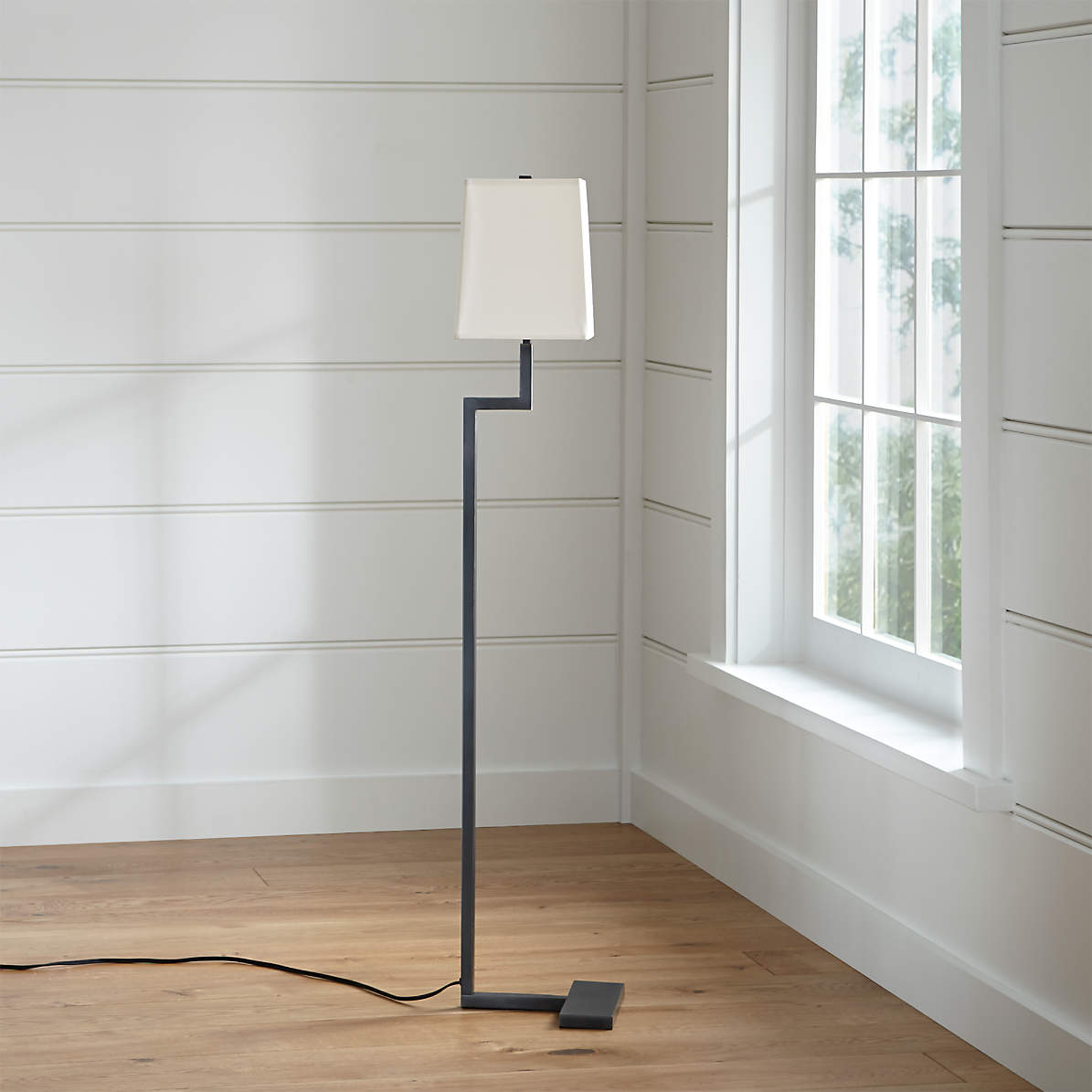Image of: Clare Antiqued Bronze Floor Lamp Reviews Crate And Barrel