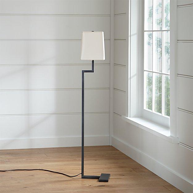 Clare Antiqued Bronze Floor Lamp - Clare Antiqued Bronze Floor Lamp Crate And Barrel