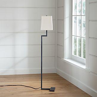 Black Floor Lamps Crate and Barrel