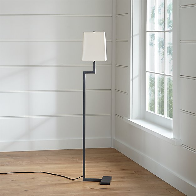Clare Antiqued Bronze Floor Lamp in Floor Lamps + Reviews | Crate ...