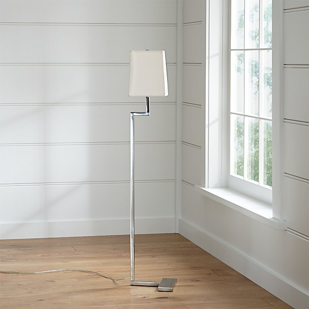 Clare antiqued silver floor lamp reviews crate and barrel mozeypictures Image collections
