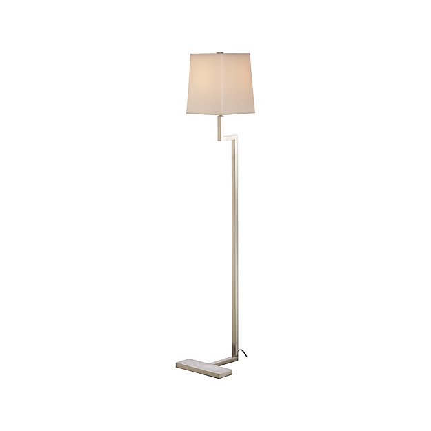 Clare Antiqued Silver Floor Lamp in Floor Lamps + Reviews | Crate ...