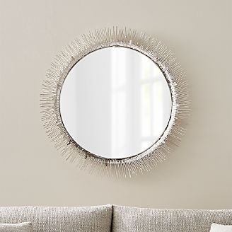 Floor wall and over the door mirrors crate and barrel for Artistic accents genuine silver decoration