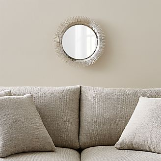 Clarendon Small Round Silver Wall Mirror