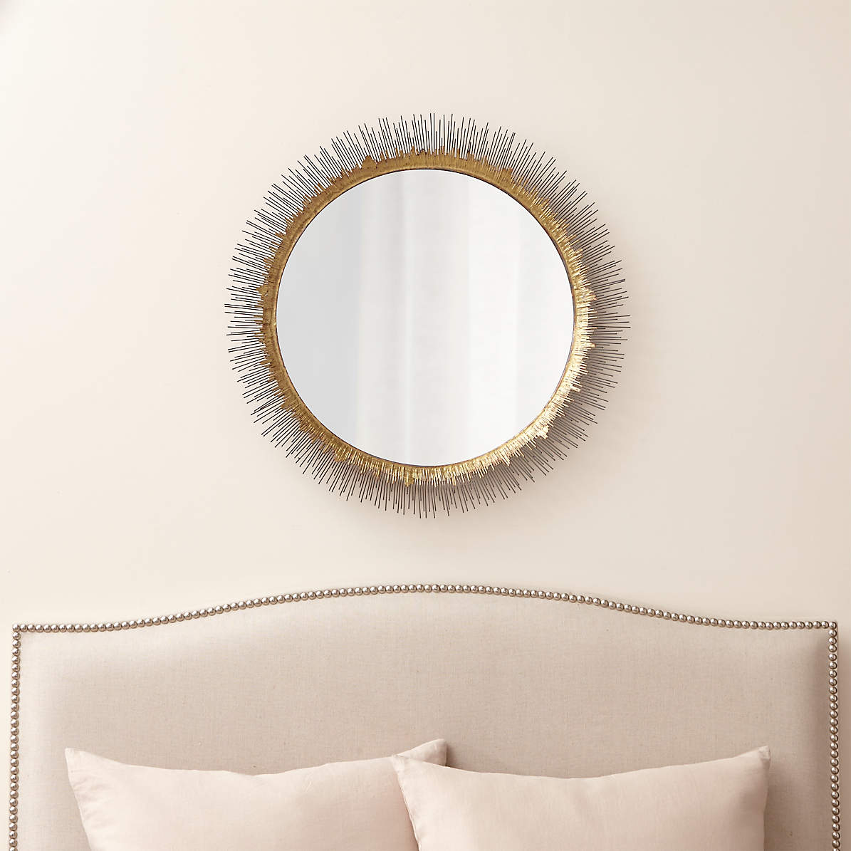 Clarendon Large Round Wall Mirror Reviews Crate And Barrel
