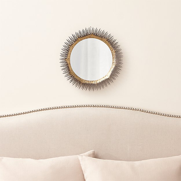 Clarendon Brass Small Round Wall Mirror