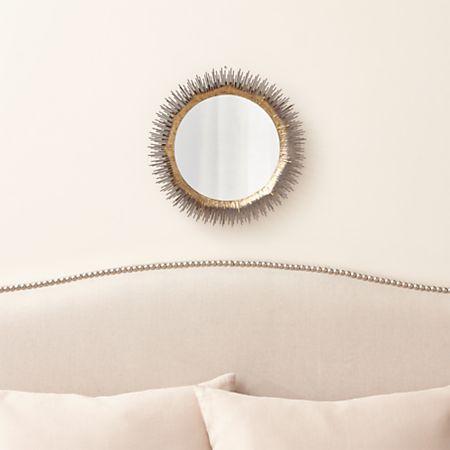Clarendon Brass Small Round Wall Mirror
