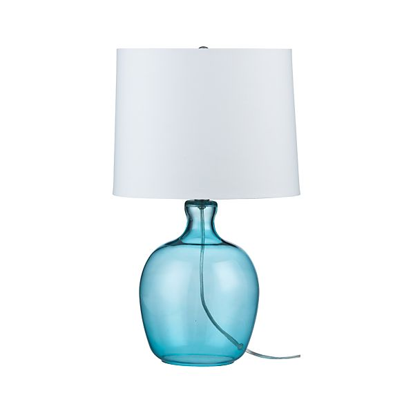 Clarity Blue Table Lamp