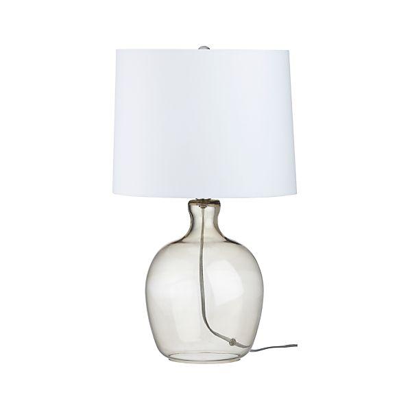Clarity Smoke Table Lamp