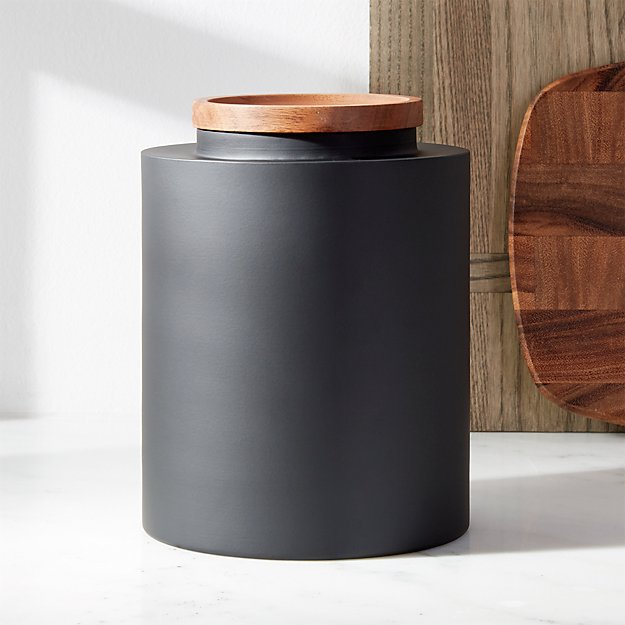 Clark Large Matte Black Canister Reviews Crate And Barrel