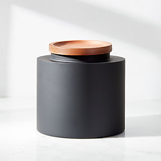 Clark Medium Matte Black Canister