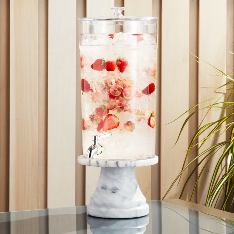 Claro Acrylic Drink Dispenser With French Kitchen Stand by Crate&Barrel