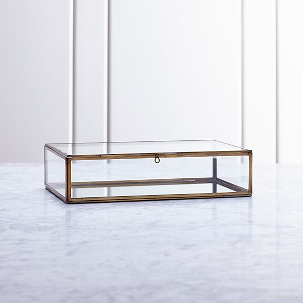 Clarus Small Brass Display/Jewelry Box