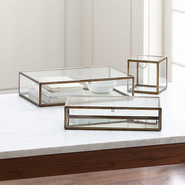Clarus Brass Display Boxes Crate And Barrel
