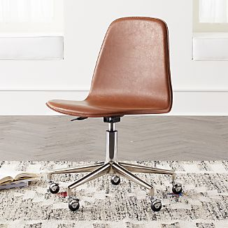leather desk chairs crate and barrel