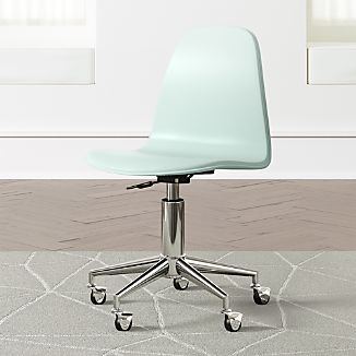 Kids Cl Act Mint And Silver Desk Chair