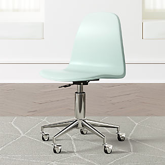 Kids Class Act Mint and Silver Desk Chair