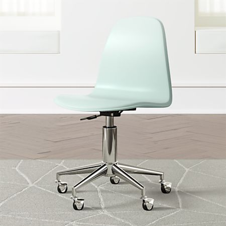 Stupendous Mint Silver Class Act Desk Chair Reviews Crate And Barrel Gmtry Best Dining Table And Chair Ideas Images Gmtryco