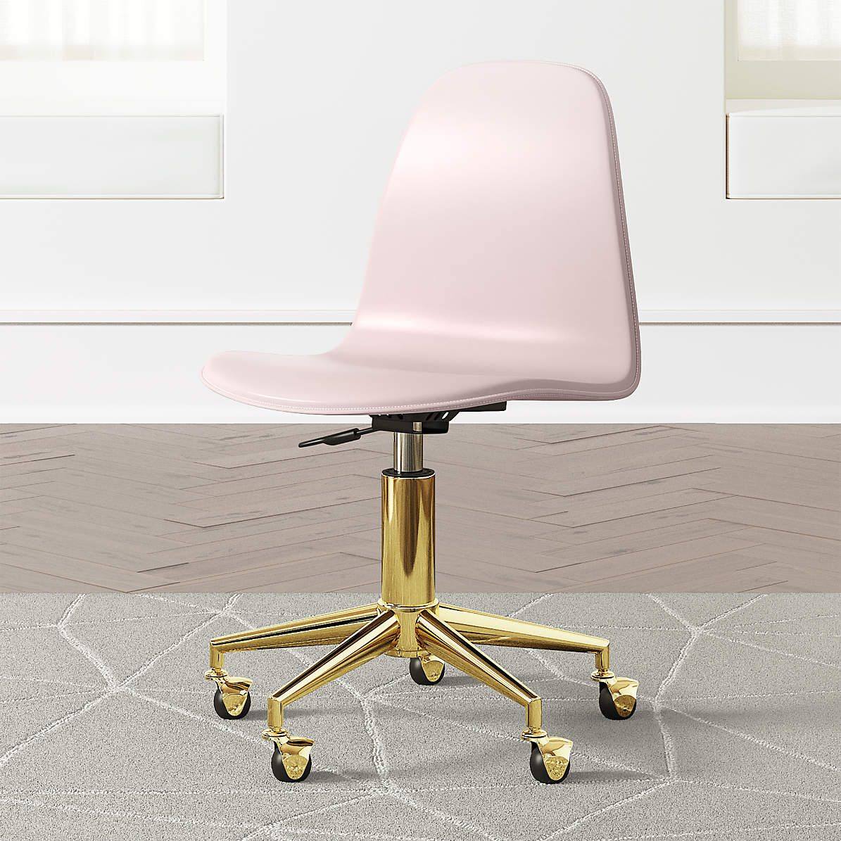 Kids Pink and Gold Desk Chair + Reviews  Crate and Barrel