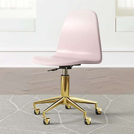 Magnificent Kids Pink And Gold Desk Chair Reviews Crate And Barrel Gamerscity Chair Design For Home Gamerscityorg