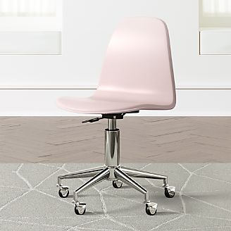Kids Class Act Pink and Silver Desk Chair & Kids Desks Study Tables u0026 Desk Chairs | Crate and Barrel