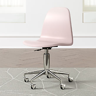 Kids Class Act Pink and Silver Desk Chair
