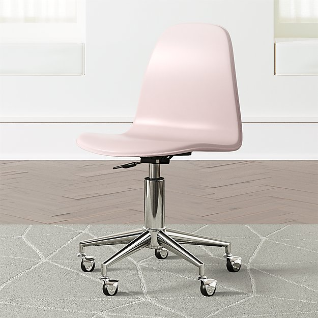 Kids Class Act Pink and Silver Desk Chair - Image 1 of 6
