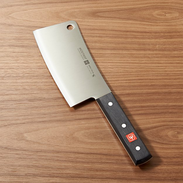 how to hold a cleaver