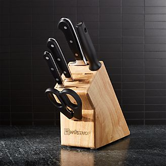 Knife Sets Wusthof Shun And Global Crate And Barrel