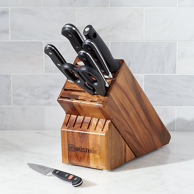 Wüsthof ® Classic Deluxe 8-Piece Knife Set with Acacia Block