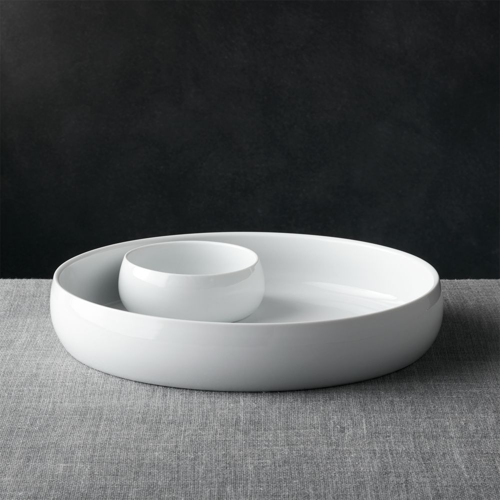 Classic White Chip & Dip - Crate and Barrel