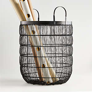 Baskets: Wicker, Wire, Woven and Rattan  Crate and Barrel