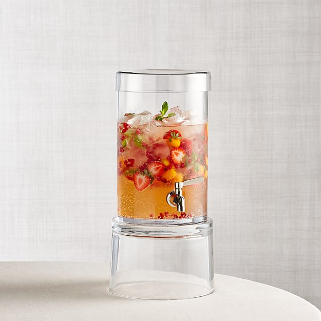 The most elegant beverage dispensers are made from fine crystal. Crystal beverage dispensers are perfect for cocktail parties because they are clean and sophisticated. The elegance of crystal requires additional care, so if you are considering this elegant drink dispenser then make sure you have the proper care instructions.