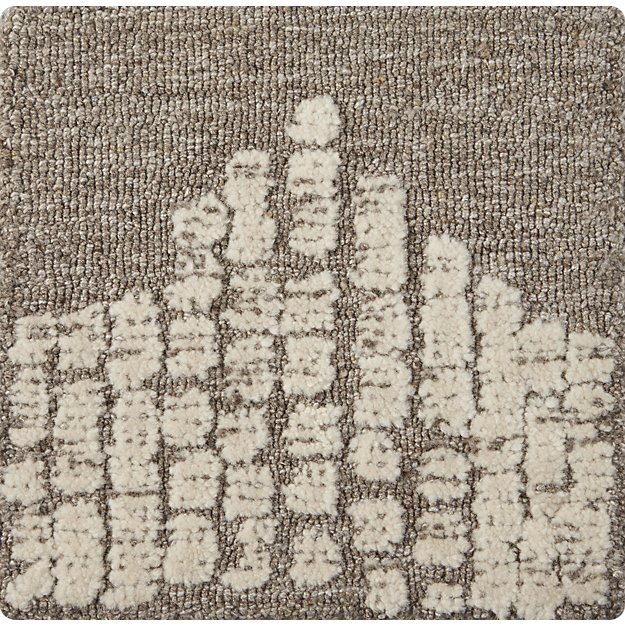 """Clea Textured 12"""" sq. Rug Swatch"""