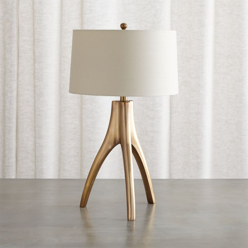 Cleo Brass Tripod Table Lamp