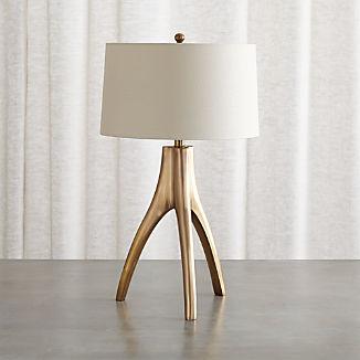 Cleo Brass Tripod Table Lamp