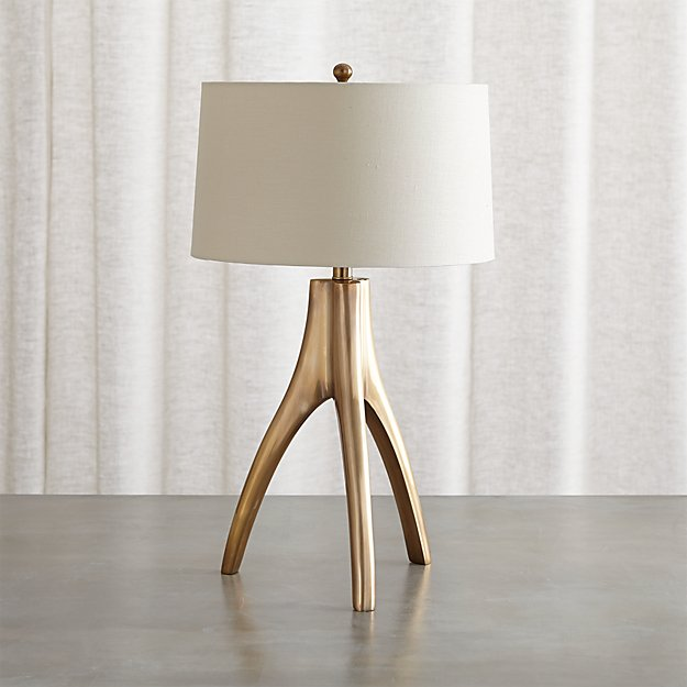 Cleo Brass Tripod Table Lamp - Image 1 of 13