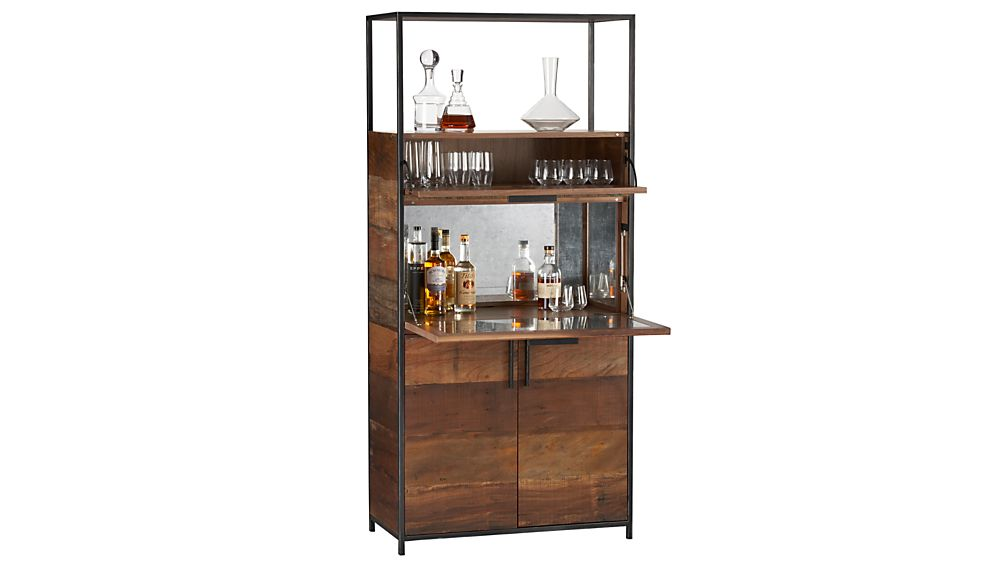 Clive Bar Cabinet In Bar Cabinets Bar Carts Reviews Crate And Barrel